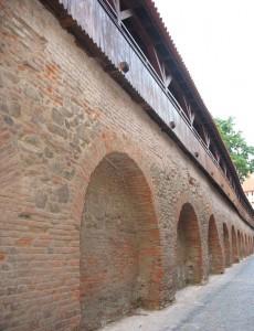 Urlaub in Rumänien - Burgmauer in Hermannstadt