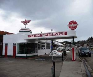 alte Tankstelle im historischen Truckee