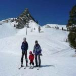 Familienbild Skifahren Snowbasin