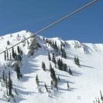 Skifahren auf endlosen Hängen Snowbird