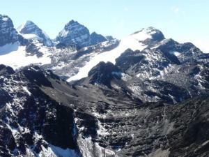 Blick auf den Illusion in der Cordillera Real