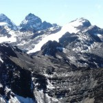Bergsteigen in der Cordillera Real in Bolivien mit Condoriri, Mururata und Illimani