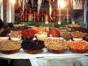 Olivenhändler in den Souks