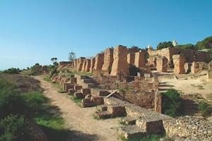 Ruinenfeld in Karthago Tunesien