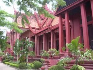 Das Nationalmuseum von Phnom Penh mit über 5000 Ausstellungsstücken