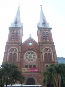 Notre Dame in Ho Chi Minh City in Vietnam