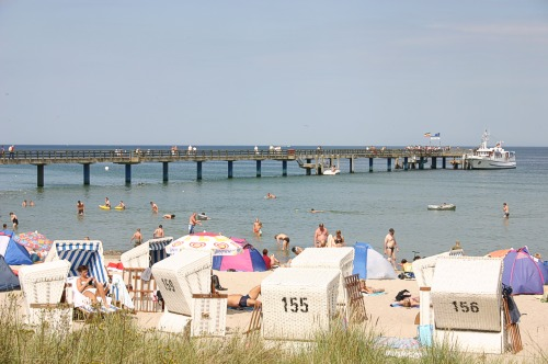 Seebrücke und Strand in Boltenhagen