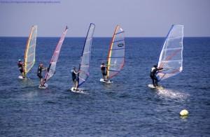 Windsurfing auf Comino