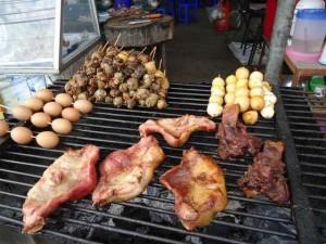 Essen auf einem Markt Thailand