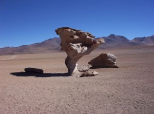 DerArbol de Piedra südlich von Uyuni