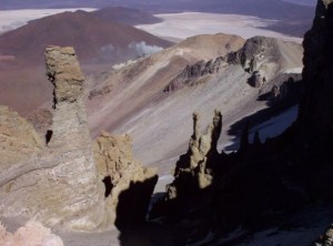 Beim Aufstieg zum Vulkan Ollagüe