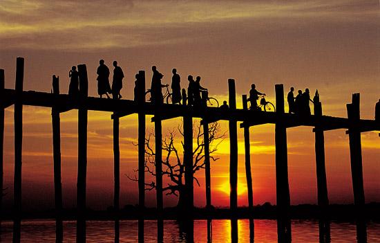 Myanmar Reise U-Bein Bruecke