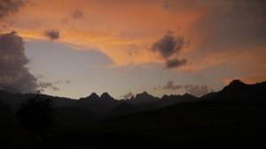 Sonnenuntergang in den Drakensbergen