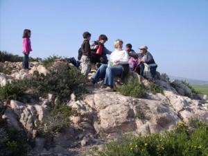 Wanderführerin Johanna mit Gruppe
