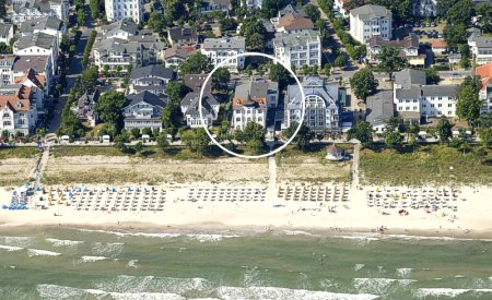 Blick auf unser Strandhotel Binz
