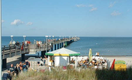 Strand und Seebrücke in Binz