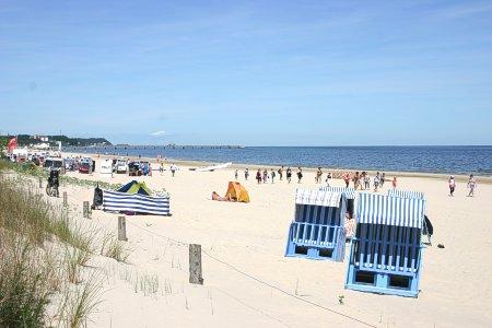 Der Ahlbecker Strand vor dem Hotel Kastell
