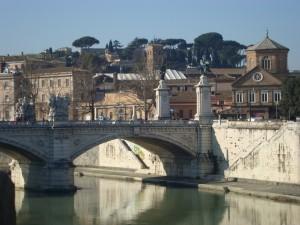 Tiber vor dem Gianicolo