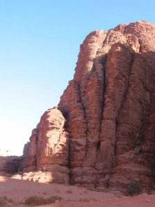 Felsformation im Wadi Rum
