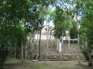 Tempel in Calakmul