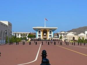 Der gewaltige Sultanspalast in Muscat.