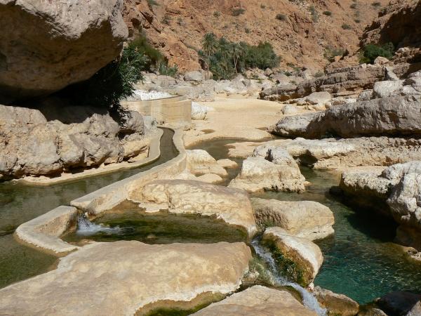 Wadi Bani Khaled, dem schönsten Wadi im Oman.