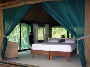 Zelt im Selous Wilderness Camp