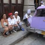 Arbeitspause der Mitarbeiter des Restaurants beim Spanisch Kulturprogramm