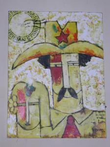 Gemälde: Kubanisches Paar aus der Provinz