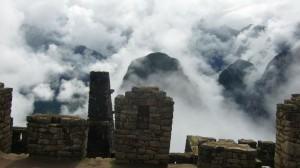 In den Ruinen von machu Pichu bei Cusco in Peru