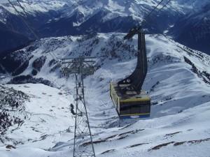 Gondel im Skigebiet Zillertal
