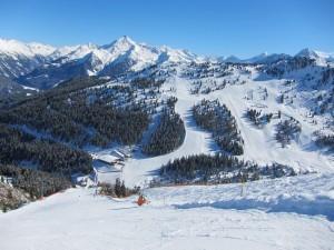 Abfahrt Skigebiet Zillertal