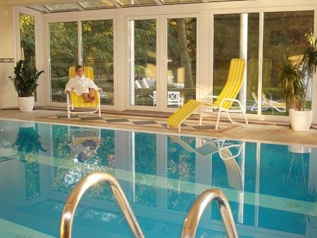 Das Schwimmbad im Wellnessbereich