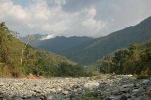 Sierra Maestra, Kuba, Blick auf den verhangenen Pico Turquino