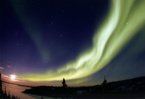 Aurora Borealis in den Northwest Territories, Canada