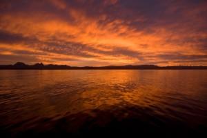 Sonnenuntergang über der Sea of Cortes
