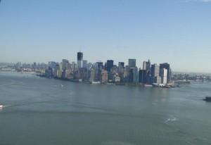 Skyline von New York - vom Hubschrauber