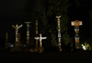 Totempoles im Stanley Park in Vancouver