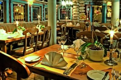 Blick ins skandinavische Restaurant