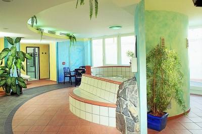 Der Wellnessbereich im Hotel in Baabe