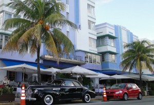 Art Deco Viertel in Miami Beach, Florida