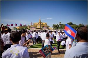 Zehntausende Kambodschaner feiern ihren alten König (89. Jahre)