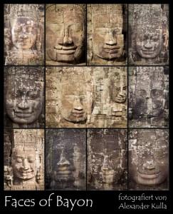 Collage aus mehreren Gesichtern