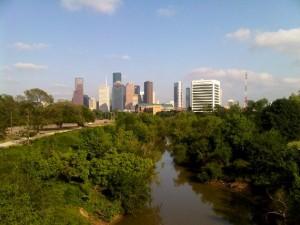 Blick auf Houston