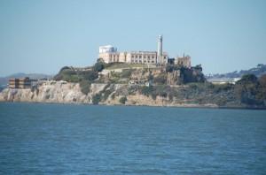 Die beeindruckende Gefängnisinsel Alcatraz in der Bucht von San Francisco