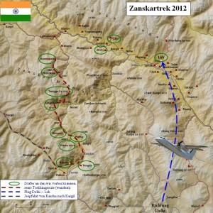 Karte Zanskartrek