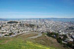 Aussicht von den Twin Peaks über San Francisco