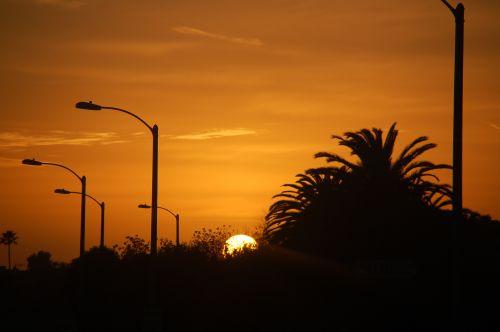 Wesküste USA Sonnenuntergang in San Diego