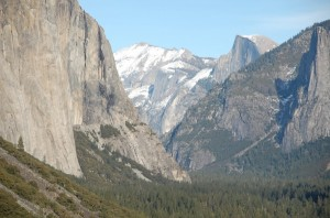 Panorama des Yosemite National Park