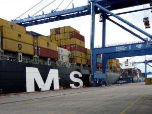 Die MSC Ilona - Beladung des Frachtschiffes